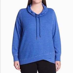 Calvin Klein crossover hem cowl neck sweatshirt 3X